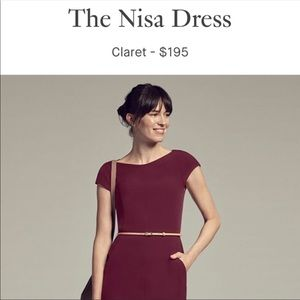 MM.LaFleur Nisa Work Dress in Wine (Claret) 🍷